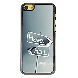 Buy Heaven and Hell Road Signs Pattern PC Hard Case with 3 Packed HD Screen Protectors for iPhone 5C