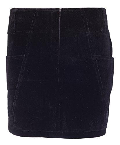 Para mujer falda señoras vestido corto elástico corto pana Mini oficina lápiz pantalones cortos tamaño 10121416 negro
