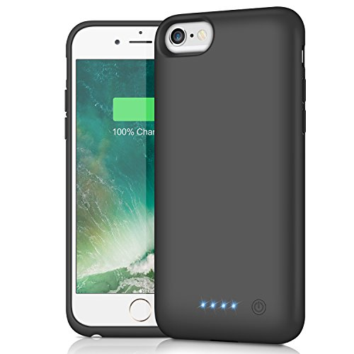 Battery Case for iPhone 6s/6, HETP 6000mAh Portable Charger Case Rechargeable Extended Battery Pack for Apple iPhone 6 & iPhone 6s Charging Case Protective Backup Power Bank (4.7 inch) -Black