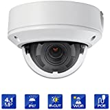 Outdoor 4.1 Megapixel POE Dome IP Security Camera - IP67 Weatherproof, Motorized lens 2.8~12mm lens HIKVSION OEM DS-2CD1741FWD-IZ