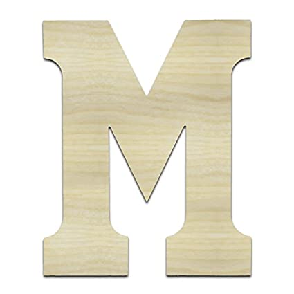 unfinished wooden letters m mu 24 tall large wall wood letters