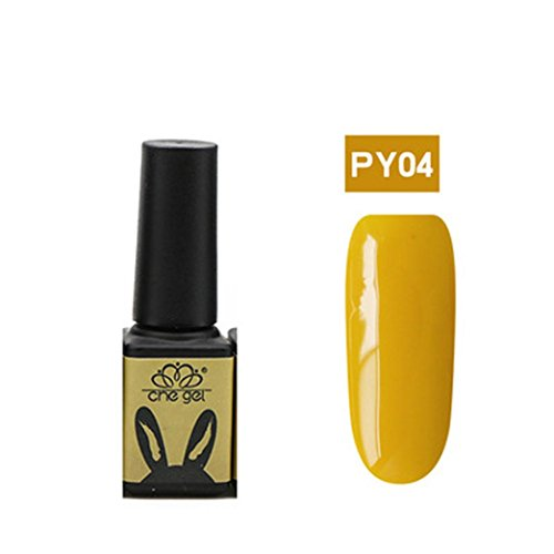 Nail UV Gel Polish Soak Off Nail Art Topcoat Primrose Yellow Gel
