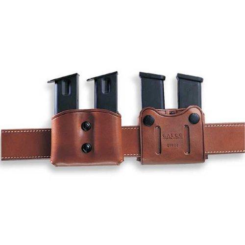 Galco DMC Double Mag Carrier for .45, 10mm Single Column Metal Magazines (Havana, Ambi) (Havana Fabric)