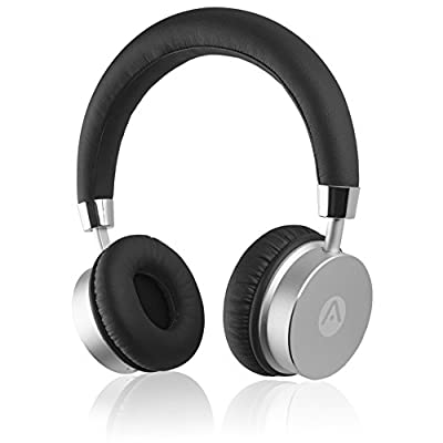 Audiomate BT905 Lightweight Wireless Bluetooth Stereo On-Ear Metal Headphones w/Incredible HD Audio and 12 Hour Battery (Black)