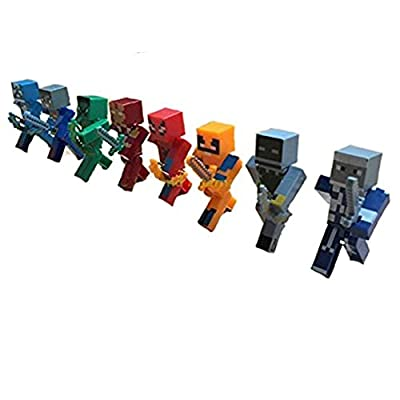 Minecraft Themed Super Hero Action Figures Mini Figures by China