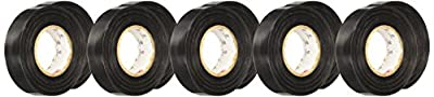 "3M Temflex 1700 General Use Vinyl Electrical Tape, 0 to 80 Degree C, 36 yds Length x 3/4"" Width, Black"