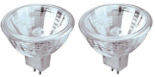 20 Watt MR16 Halogen Low Voltage Xenon Flood Light Bulb 2950K Clear Lens GU5.3 Base, 12 Volt, Card -