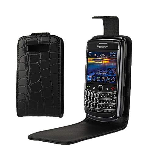 GUOSHU Mobile Phone Case Bag Crocodile Texture Vertical Flip Leather Case for BlackBerry 9700 Back Cover Case (Color : Color1) (Bold Blackberry Flip Case)