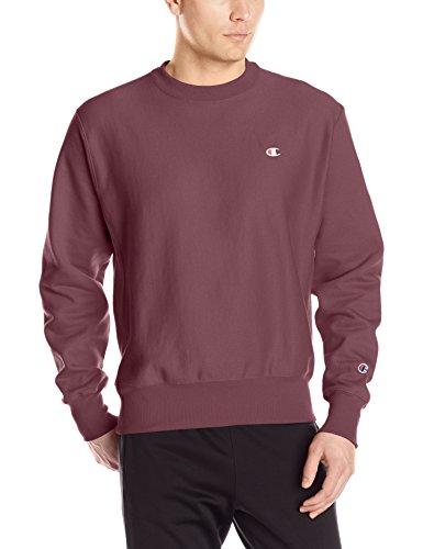 Wide Crew Sweatshirt - Champion LIFE Men's Reverse Weave Sweatshirt, Team Maroon, XX-Large