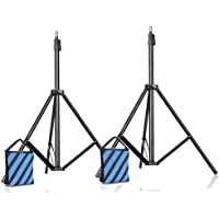 Slow Dolphin Two of Set Photography Light Stands/Video Tripod Light Stands For Studio Kits, Lights(7 Feet/ 200CM)