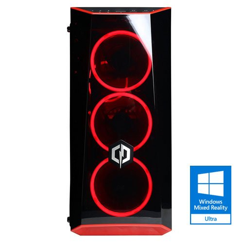 CYBERPOWERPC Gamer Xtreme GXIVR8020A4 Desktop Gaming PC (Intel i5-7400 3.0GHz, AMD RX 580 4GB, 8GB DDR4 RAM, 1TB 7200RPM HDD, WiFi, Win 10 Home), Black - VR Ready