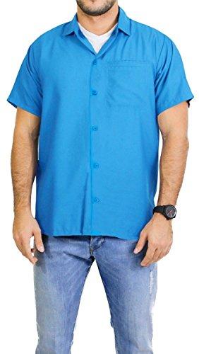 La Leela Matching hawaiian shirt and dresses mens 70s 80s 90s retro Vintage Island mens Shirt XS Blue Gifts