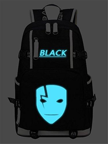 Darker Than Black Costume Mask (Siawasey DARKER THAN BLACK Cosplay Luminous Bookbag Backpack Shoulder Bag School Bag)