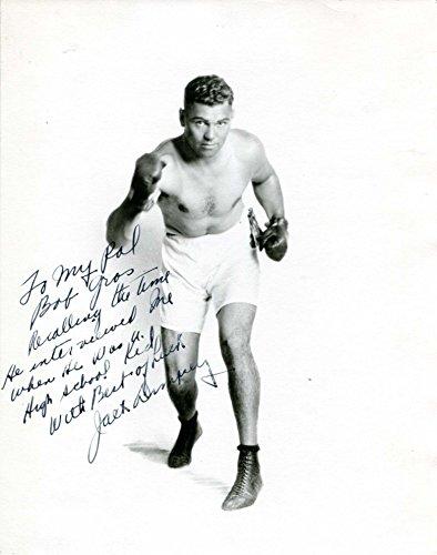 - Jack Dempsey (+) BOXER autograph, signed vintage photo