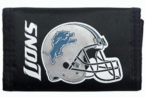 Detroit Lions Nylon Trifold Wallet Lions Tri Fold