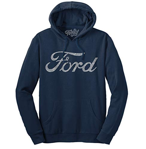 Ford Signature Pull Over Hoodie  Soft Touch Hoodie-XL Navy Heather from Tee Luv
