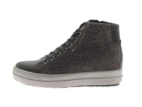 hautes strass femme CO grises Grigio amp; chaussures 67523 liens zip IGI scuro espadrilles xHpUwqXF