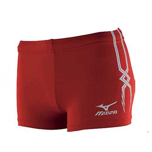 Mizuno-Shorts Rot Enganliegend Damen Volleyball-PREMIUM
