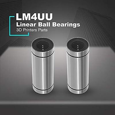 Juego de 2 rodamientos lineales LM4UU con palabras cruzadas en 3D ...