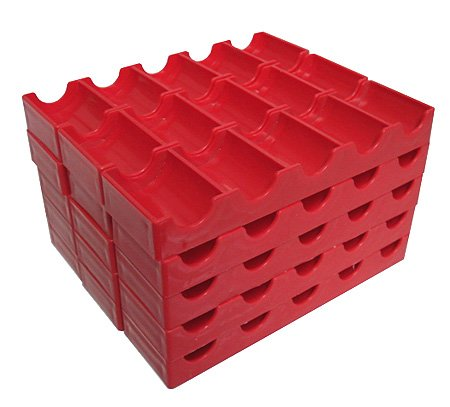 15 Token Racks Poker Chips Red Trays Racks Holds Slot Tokens 15 NEW One Price by Spinettis