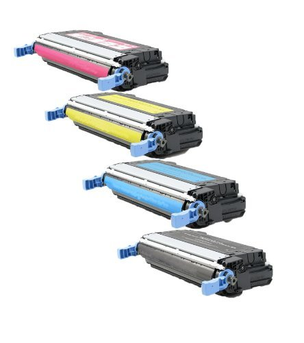 C9722a Replacement (HD TONER Compatible Toner Cartridge Replacement for HP 4600 ( 4-Pack ))