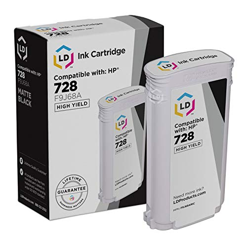 LD Remanufactured Ink Cartridge Replacement for HP 728 F9J68A High Yield (Matte -