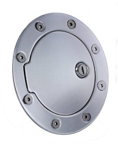 All Sales 6050L Brushed Billet Aluminum Locking Fuel Door