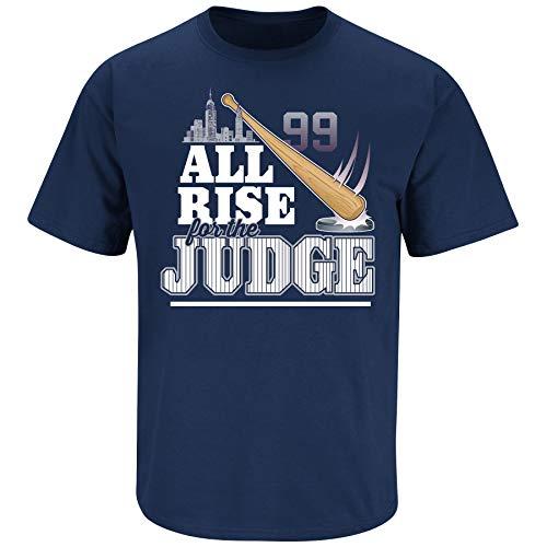 New York Baseball Fans. All Rise for The Judge Navy T-Shirt (Sm-5X) (Short Sleeve, Large) (New York T-shirt Baseball)