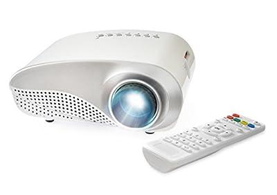 FAVI K1 LED LCD (HVGA) Mini Video Projector Kit, includes 1 item - projector only - Black