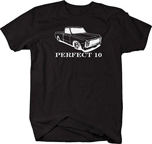 Perfect 10 Chevy C10 Fleetside Lowered 1967-72 Pickup Truck Tshirt - 2XL
