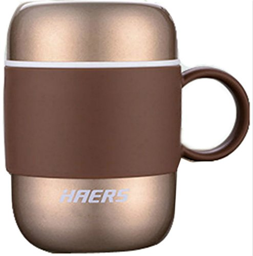 HAERS 280ML Candy Color Coffee Thermos LBG-280-11 (champagne)