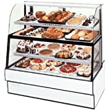 Federal Industries CGR3660DZH Curved Glass Horizontal Dual Zone Bakery Case Refrigerated Bottom Non-Refrigerated Top
