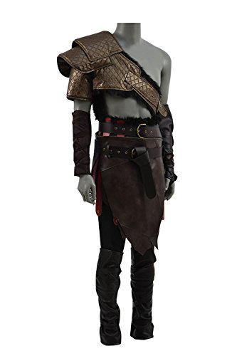 TISEA Hot Game Sparta War God Father Kratos and Son Atreu Cosplay Costume Battle Suit (Men's L, Father) ()