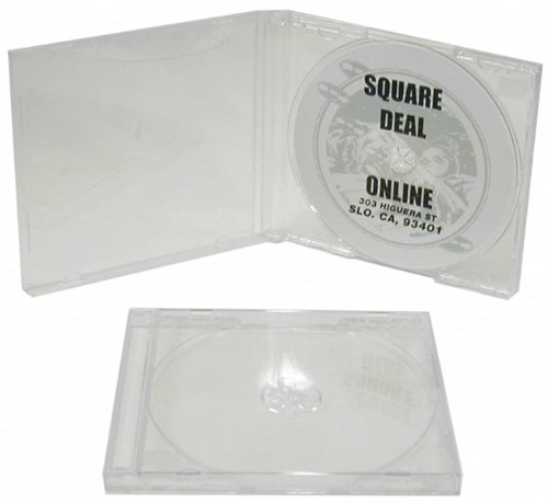50 Standard Empty Clear Replacement CD Jewel Boxes with Clear Inner Trays (Assembled) #CDBSIS
