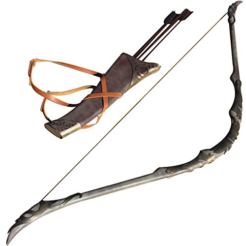 Mtxc The Lord of The Rings Cosplay Legolas Greenleaf Prop Recurve Bow & Dorlach Black ()