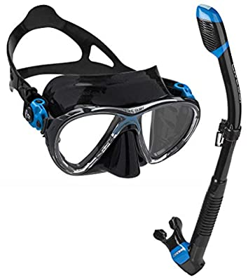 Cressi Italian Made Big Eyes Evolution Scuba Snorkeling Dive Mask, with Premium Dry Top Snorkel Set