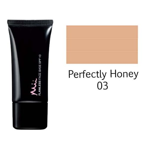 Mii Cosmetics - Flawless Face Base SPF 10 Liquid Foundation (Perfectly Honey 03) 30mL by Mii Cosmetics