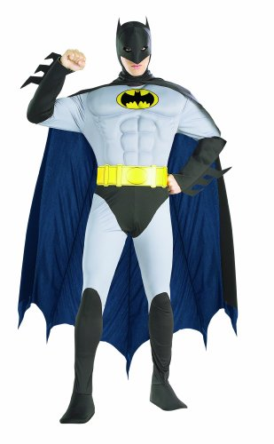 Rubie's Costume Dc Comics Adult Deluxe Muscle Chest The Batman Costume