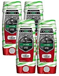 Old Spice Hydrating Body Wash - Old Spice Hardest Working Collection Hydro Body Wash, Live Wire, 16 Fluid Ounce (Pack of 4)
