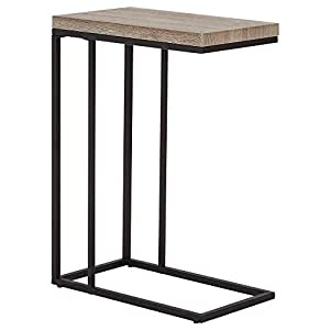 """Bouclair Wood Veneer Metal Side Table 