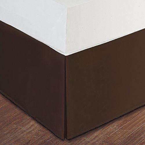 chocolate bed skirt cal king - 9