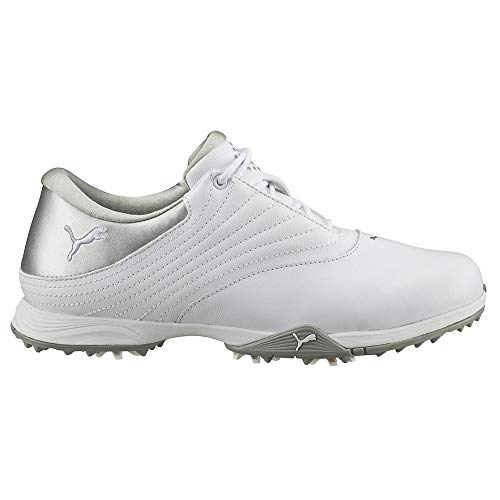 PUMA Golf Women's Blaze Golf Shoe, White Silver, 8.5 Medium US