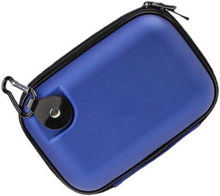 ポータブル 旅行 EVA ハードケース キャリングバッグ 保護ボックス 耐震 - ブルー