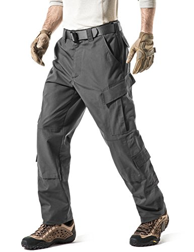 CQR CQ-UAP01-CHC_Medium(W32-36)-Regular Men's ACU/BDU Rip Stop Trouser EDC Tactical Combat Pants UAP01/UBP01