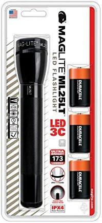 3-C Battery Black Ships Today Maglite LED Tactical Aluminum Flashlight