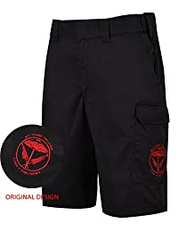 Men's Tactical Shorts Relaxed-fit Multi Pockets Belted Twill Cargo Short Pants