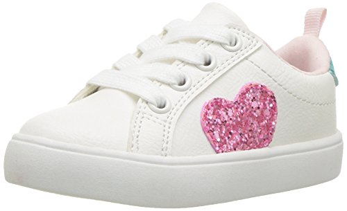 Carter's Girls' Emilia Casual Sneaker, White, 10 M US Toddler by Carter's
