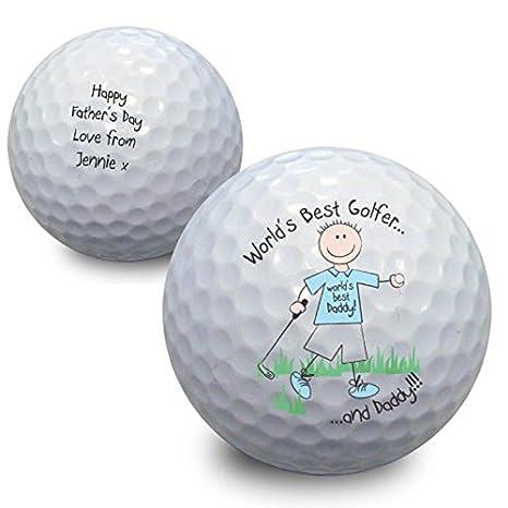 Del Mundo Mejor golfista pelota de Golf personalizado para ...