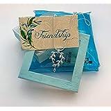 Smiling Wisdom - Vine Silver Necklace Friendship Gift Set - Unique Appreciation - Best Woman Friend Appreciation - Reason Season Lifetime Forever True BFF Greeting Card - .925 Silver Plated Jewelry