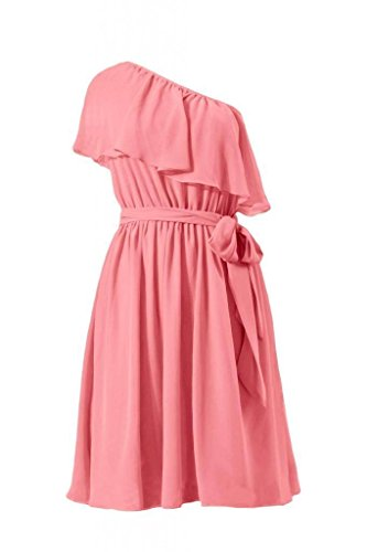 Dress Asymmetric Dress Vintage One Party Strap Bridesmaid 14 light BM1362 Coral DaisyFormals T0wqdIa10